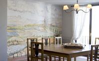 Salle à manger du salon privé à La Boella