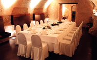 Banquet dans  les Salons Dorés La Boella