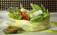Verdures al vapor restaurant La Boella