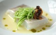 Bacallà confitat amb oli de la Boella, restaurant La Boella Tarragona