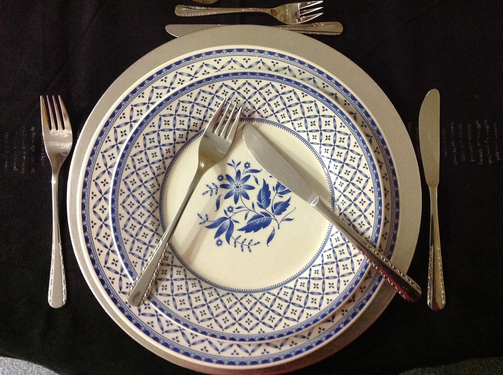 Conoces las normas del protocolo de mesa la boella la for Protocolo cubiertos mesa