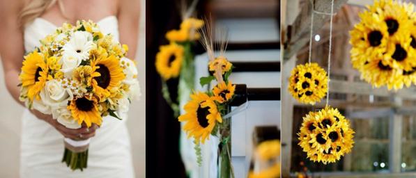 Decoración boda girasoles