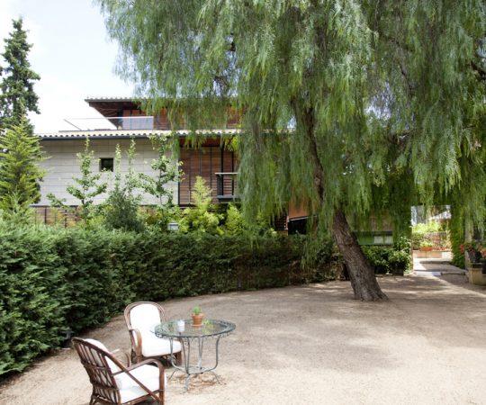 Jardín de hotel con encanto en Tarragona
