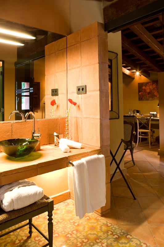 Baño Habitación hotel Mas La Boella