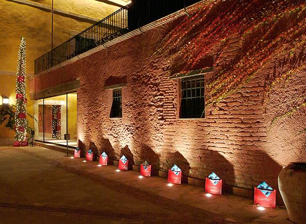 Patio central del Centro de Convenciones La Boella Tarragona