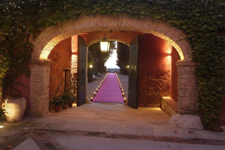 Entrada al centro de convenciones La Boella Tarragona
