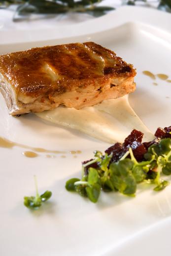 Cochinillo confitado restaurante La Boella