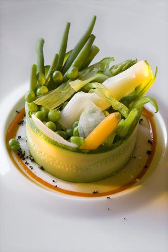 Verduras del huerto de La Boella al vapor