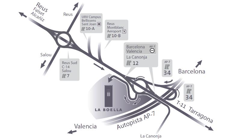 Mapa - Cómo llegar a La Boella