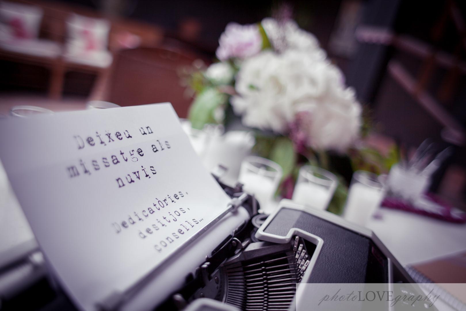 Organización de los diferentes elementos de la boda