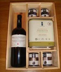 LOTE 6 Sales, vino mágnum y aceite La Boella