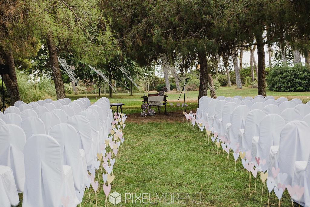 Espacio al aire libre para bodas