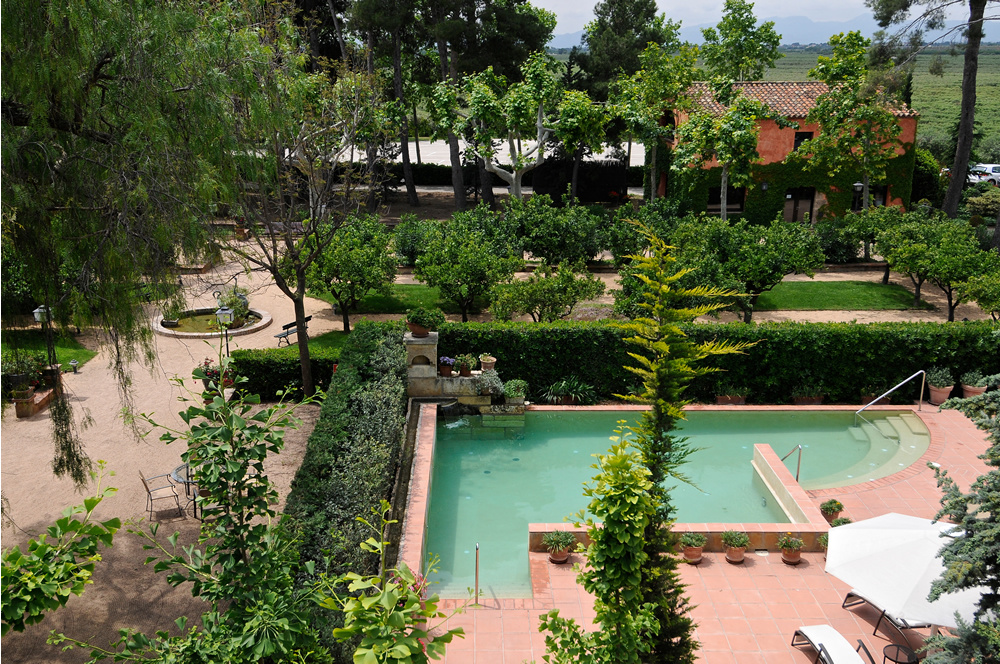 Vistas a la piscina desde la Suite Boella